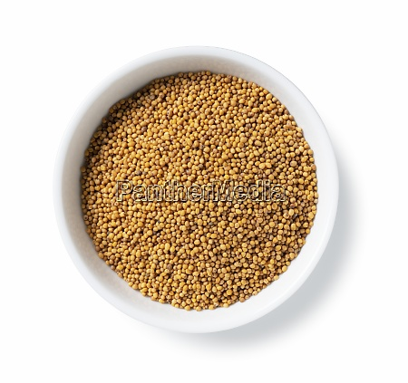 mustard seeds in a plate placed