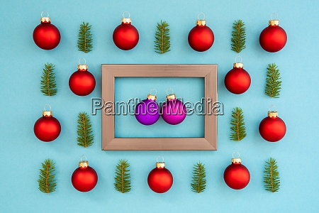 frame with two purple ball in