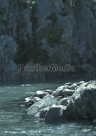 3d rendering mountain river view
