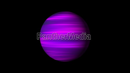 sphere with bright glowing lines on