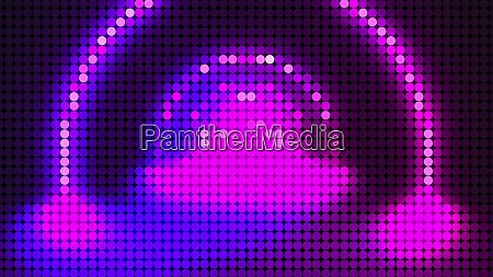 led screen dots abstract background 3d