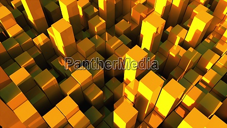 3d rendering background of many gold