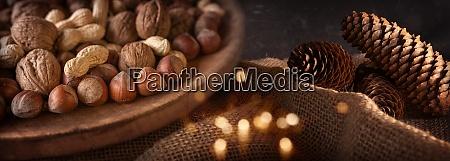 mixed nuts at christmas time