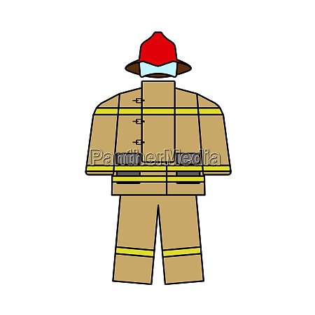 fire service uniform icon
