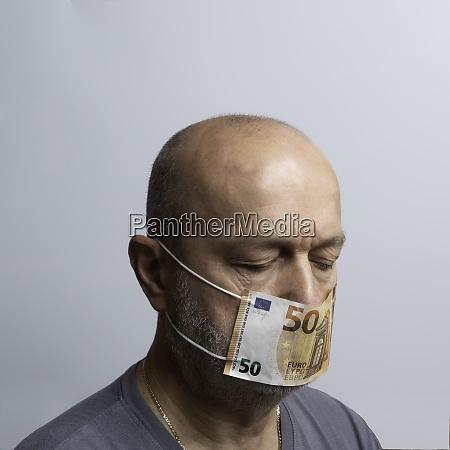 euro banknote mask