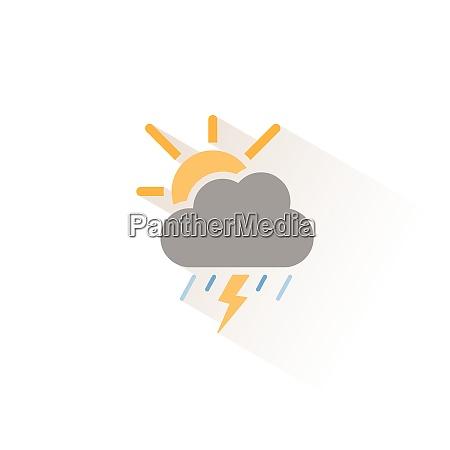 storm heavy rain and sun isolated