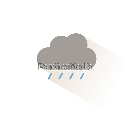 soft rain and cloud isolated color