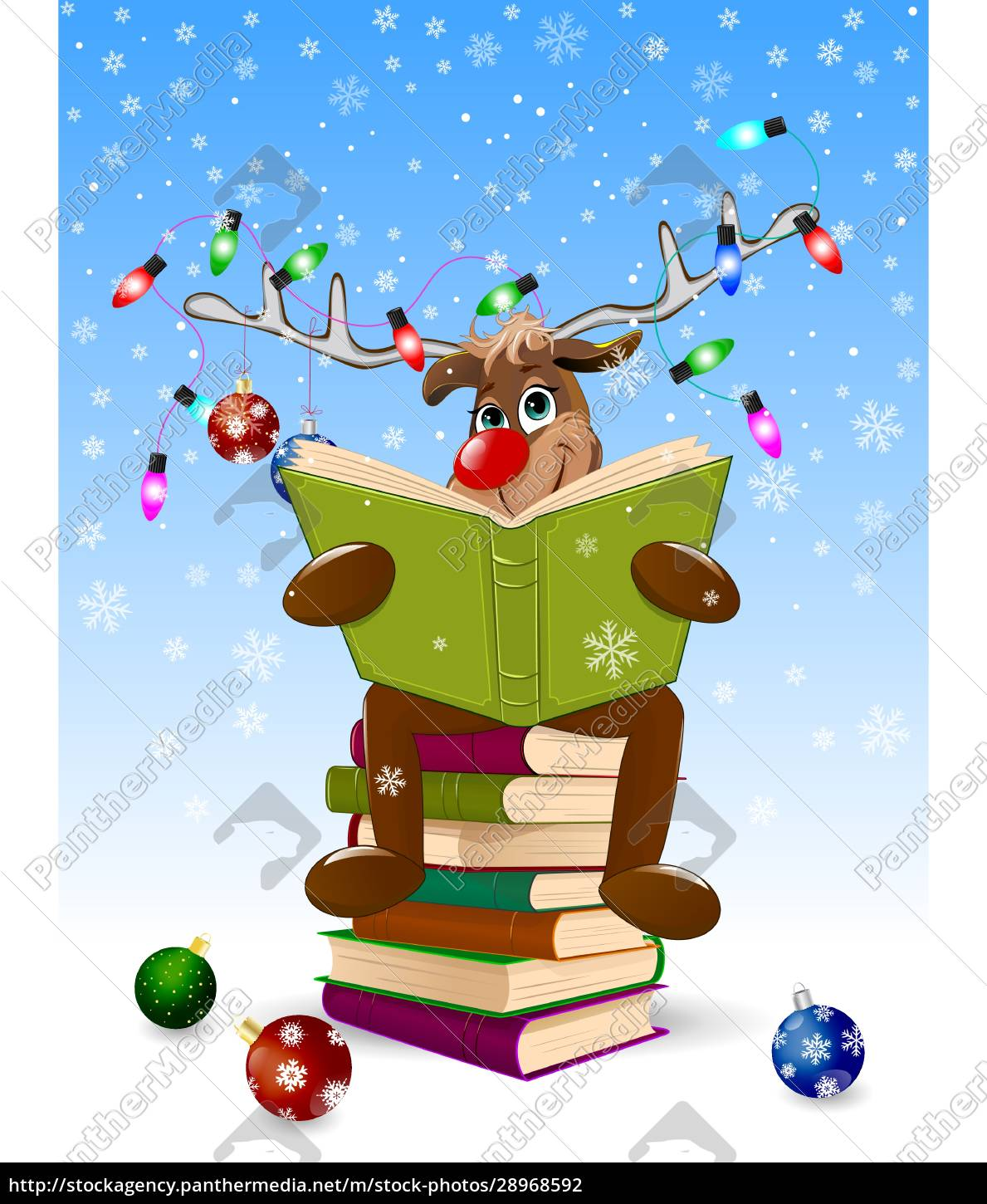 happy, deer, reading, a, book, for - 28968592