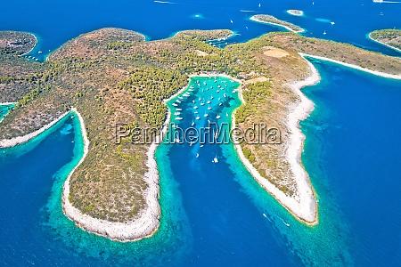 aerial panoramic view of palmizana sailing