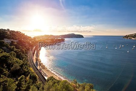 idyllic french riviera bay and cap