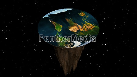 flat earth with nature landscape ancient