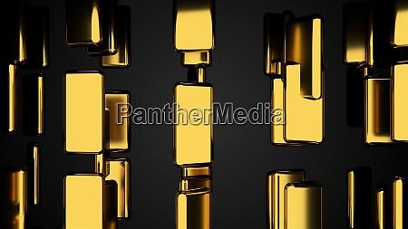 many golden bars on black outlook