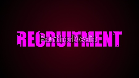 recruitment text abstract background digital 3d