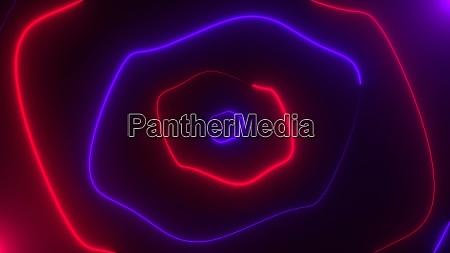 abstract neon random shapes with illumination