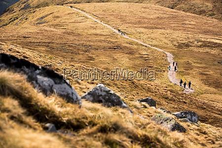 people hiking on the splendid ben