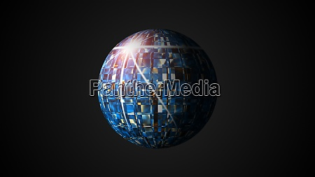 sphere with visual wave oil surface