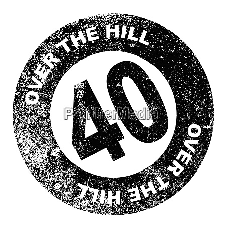 over the hill stamp