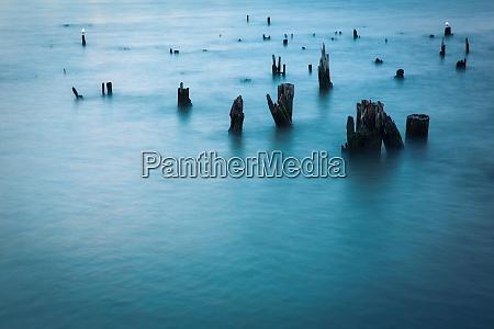 long exposure shot of hudson river