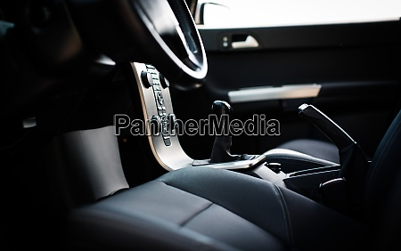 modern car interior shallow dof color