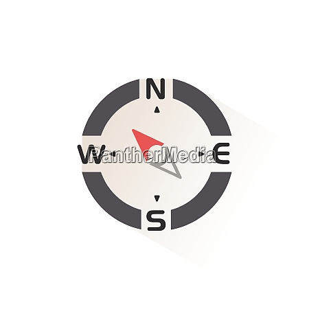 compass north west direction isolated color