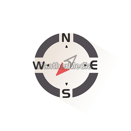 compass south west direction isolated color