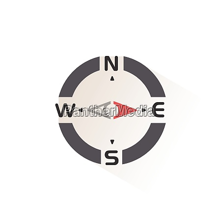 compass., east, direction., isolated, color, icon. - 28972980