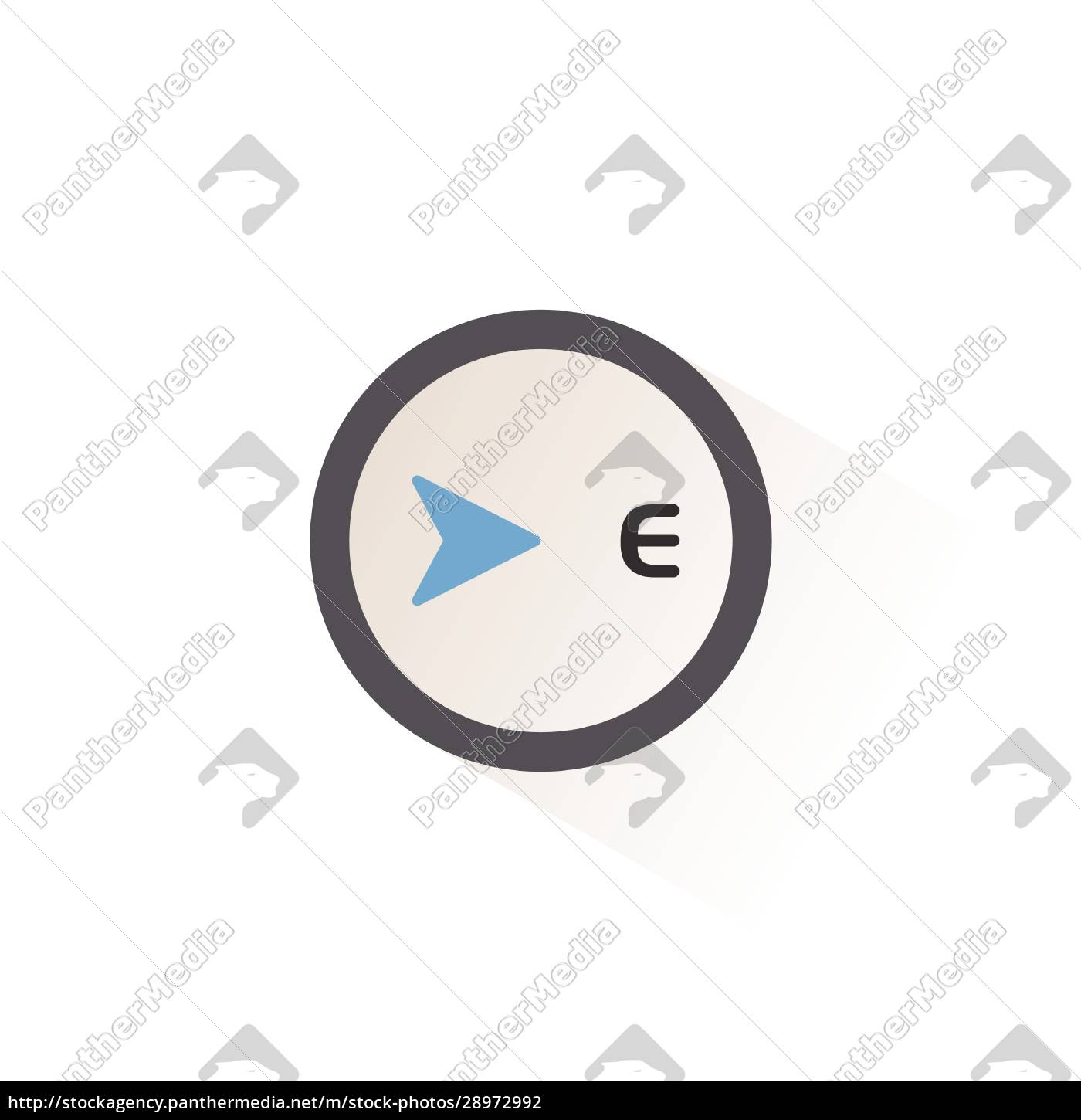 east, direction., isolated, color, icon., weather - 28972992