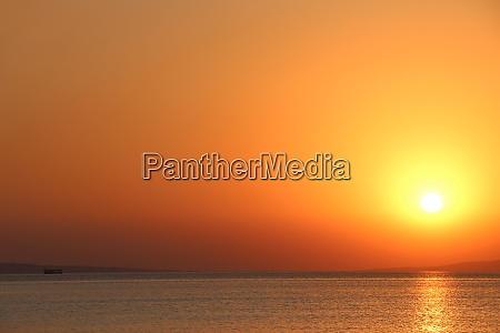 dawn above sea beautiful summer dawn