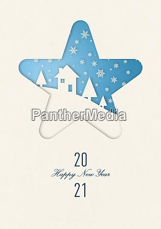 happy new year 2021 winter card