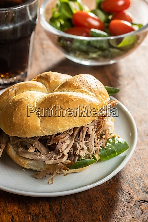 sandwich with pulled meat