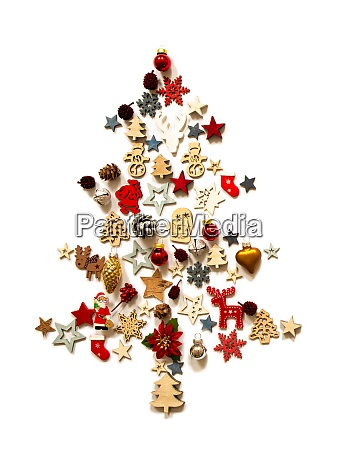 christmas tree decoration and ornament isolated