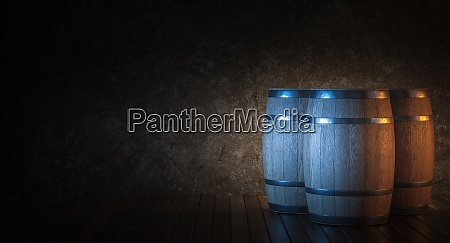 wooden barrels for aging wine on