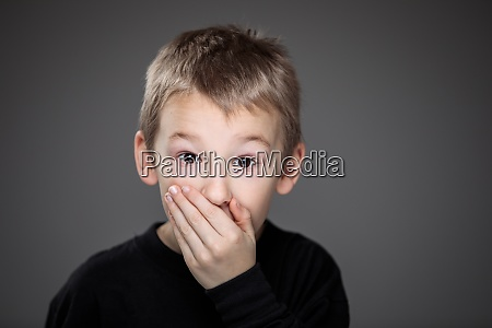 grief stricken little boy feeling