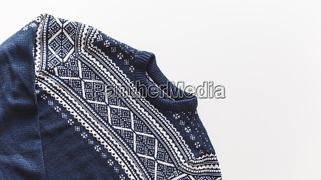wool man pullover isolated at white