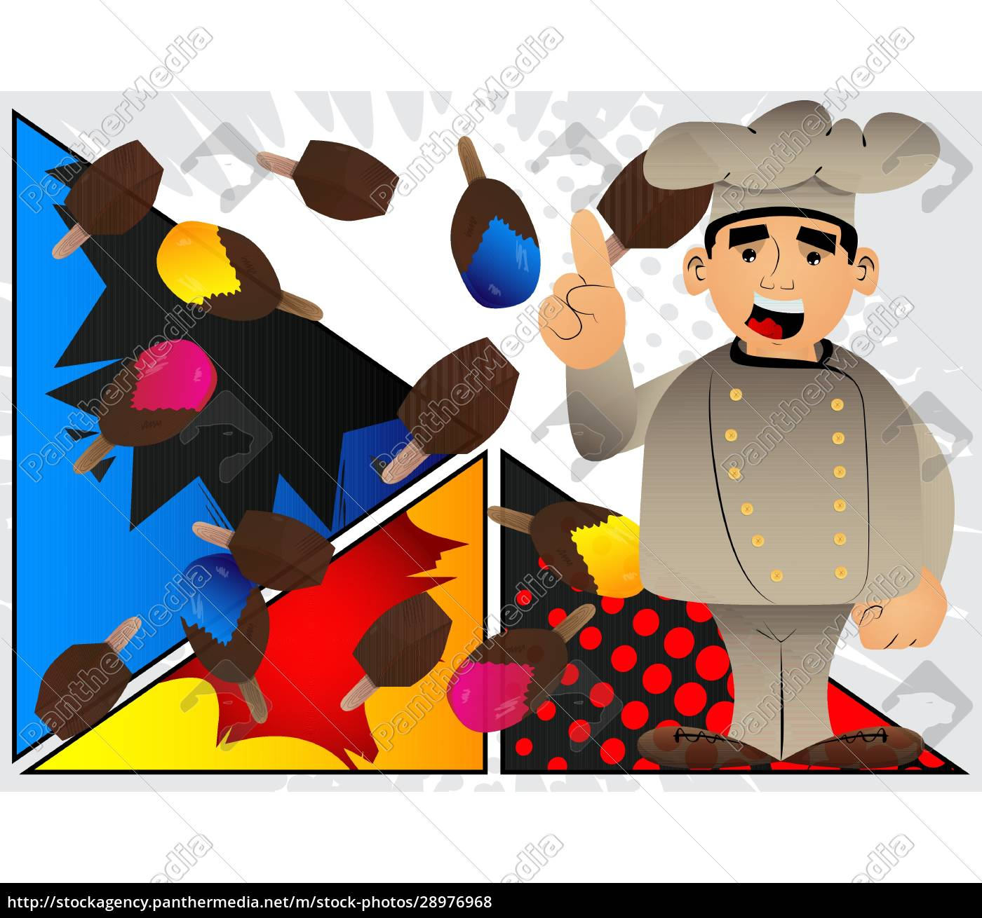 chef, in, uniform, making, a, point. - 28976968