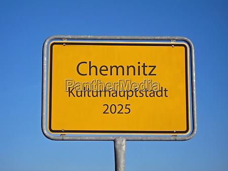 orstsschild chemnitz european capital of culture