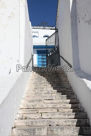 stairway in sidi bou said tunisia