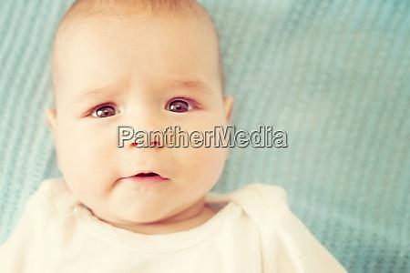 three month old baby portrait