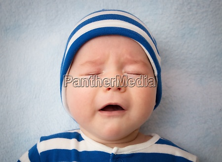 three month old crying baby