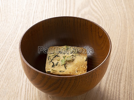 freeze dried miso soup in a