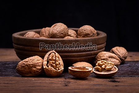 still life with walnut kernels and