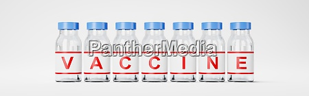 series of vaccine bottles on white