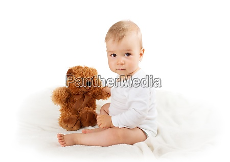little baby isolated on white background