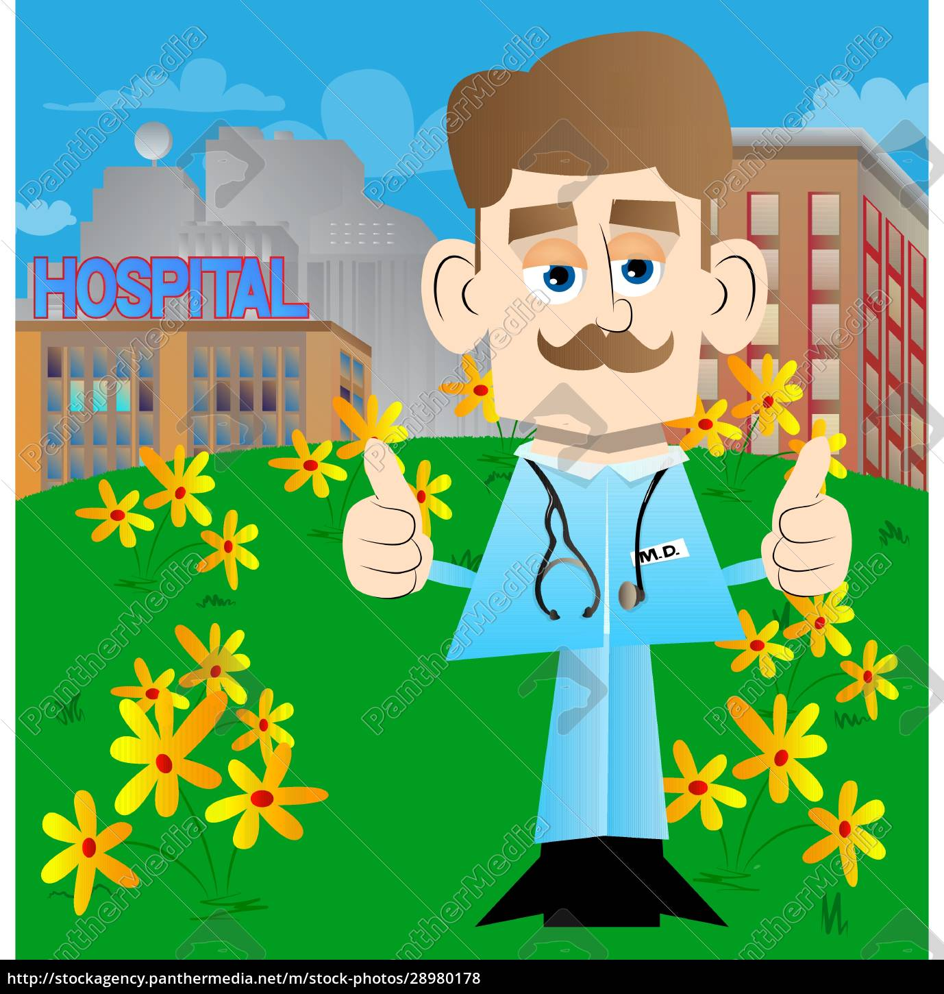 doctor, making, thumbs, up, sign, with - 28980178