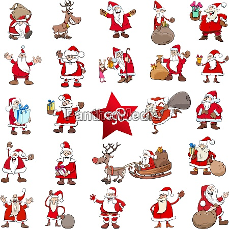 christmas cartoon characters big set