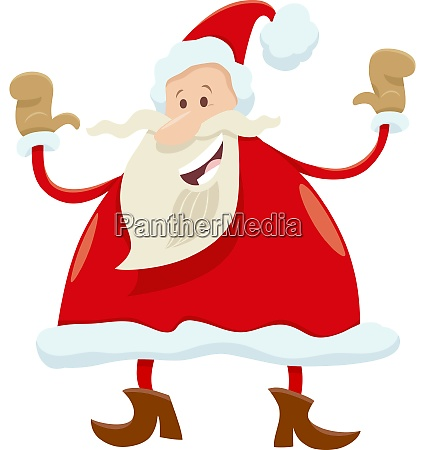 happy santa claus cartoon character on