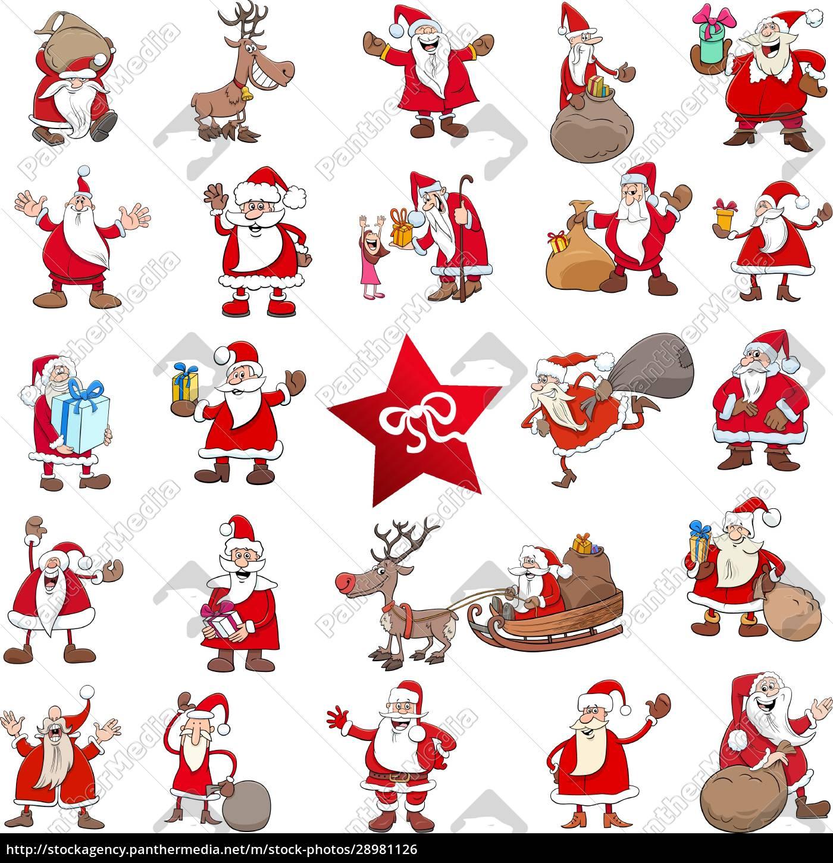 christmas, cartoon, characters, big, set - 28981126