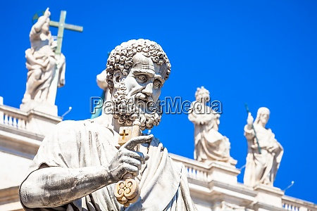saint peter statue in front of