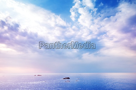 rocky shores at the sea