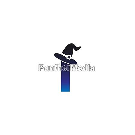 letter i witch hat concept design